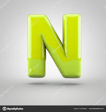 Glossy Paint Letter W 3d Render Of Bubble Font With Glint Isolated