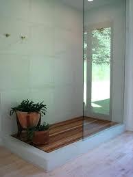 Full Image For Floors A Wood Showerteak Shower Floor Ideas Wooden Tile
