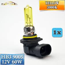 flytop 9005 hb3 yellow 12v 60w 1 3000k halogen bulb car