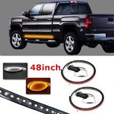 100 Side Step For Truck Running Board LED Light Bar Kit For Chevy Dodge GMC D