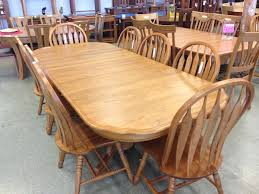 Oak Table with Carved edge and Chairs