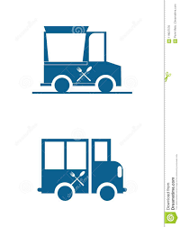 100 Food Truck Industry Two Food Truck Icons Stock Vector Illustration Of Lorry 119037576