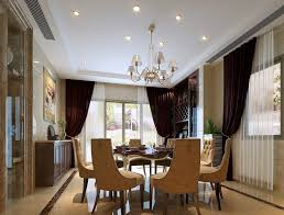 Chandelier Modern Dining Room by Classy Dining Room With Golden Chandelier With Four Main Lights