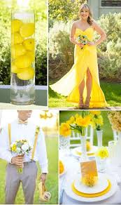 Sun Drenched Yellow And Green Flash This One Of Spring Wedding Colors