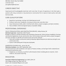 Screenshot Of A Sample Electrician Resume