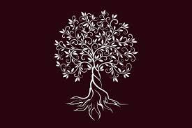 Olive tree vector logo concept