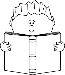 Read A Book Boy Coloring Page