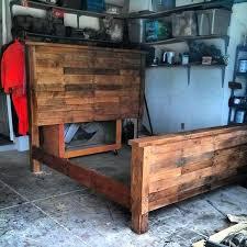 King Size Wood Bed Frame Reestablished Pallet Bed Frame King Size
