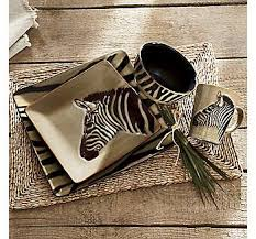 16 Piece Zebra Dinnerware Set From Seventh Avenue R DecorKitchen