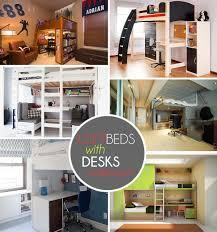 bedroom design bunk bed desk combo as furniture plans for loft