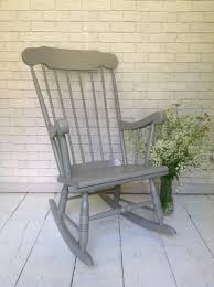 Solid Pine Rocking Chair Hand Painted In Farrow And Ball 'Moles Breath'