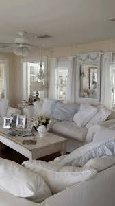 Rustic Living Room Wall Decor Ideas by Shabby Chic Living White Fabric Sofa Covers Cranberry Floor Carpet