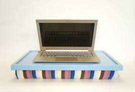Cushioned Lap Desk With Storage by Laptop Lap Desk Or Breakfast Serving Tray Light Blue With