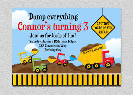 Construction Birthday Invitation, Construction Birthday Party ... Mud Trifle And A Dump Truck Birthday Cake Design Parenting Diy Awesome Party Ideas Pinterest Truck Train Cookies Firetruck Dump Kids Cassie Craves Dirt In Cstruction With Free Printable Shirt Black Personalized Stay At Homeista Invitations Dolanpedia The Mamminas A Garbage Ideal For Anthonys Our Cone Zone