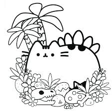 Click The Cute Pusheen Coloring Pages To View Printable