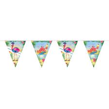 Wimpelkette Girlande Dekokette Flamingo Beachparty Geburtstag 10m EBay