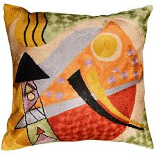 kandinsky decorative pillow cover toss pillows orange red gold
