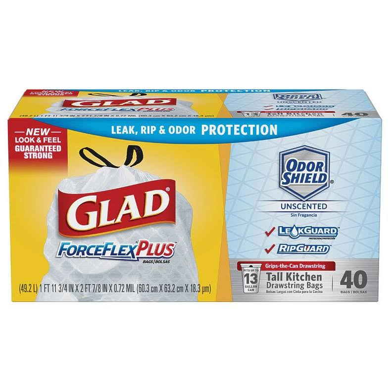 Glad ForceFlexPlus Drawstring Bags - 30 Gal