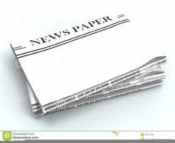 Blank Newspaper Headline Clipart Image