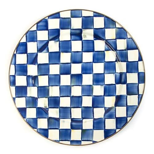 MacKenzie-Childs Serving Platter - Royal Check