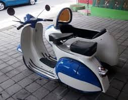 Vespa Sidecar Colors White And Blue