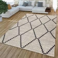 wohnzimmer teppich mit geometrischem skandi real de