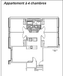appartement 4 chambres éts résidences universitaires