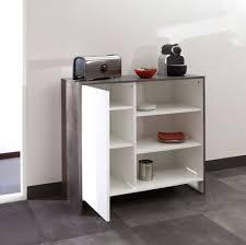 meuble bas cuisine meuble bas de cuisine en bois 1 porte 3 niches edgar béton 95 cm
