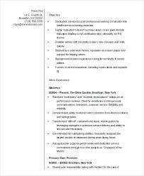 Nursing Resume Template Assistant In Word Format Free Download