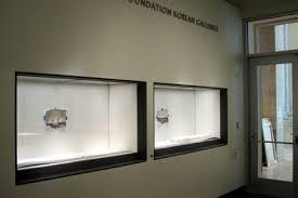 Empty Cases Line The Korean Gallery Walls