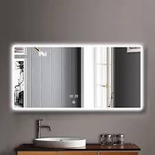 led kosmetikspiegel für badezimmer horizontale wandmontage