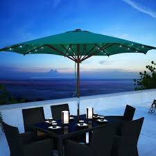 Lighted Outdoor Umbrella Outdoor Solar Powered Led Lighted Outdoor