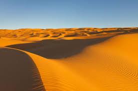 Sand Dunes In The Sahara Desert Of Libya