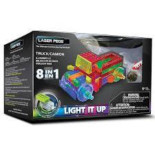 100 Trucks Powerblock Amazoncom Laser Pegs 8in1 Truck Building Set Toys Games