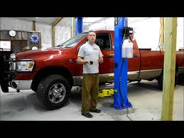 2 Post Car Lift Low Ceiling by Titan 9k Asymmetric Two Post Clear Floor Lift Youtube