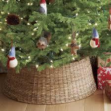 Seashell Christmas Tree Skirt by Shop Abaca Woven Tree Collar A Modern Alternative To The Tree