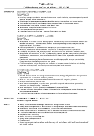 Download Events Marketing Manager Resume Sample As Image File
