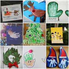 20 DIY Christmas Handprint And Footprint Kids Crafts