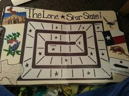 This Is A Trail Game Or Normal Board It Integrates Math And Social Studies Because Of The Texas Symbols Kids Roll Dice Move That Many Times