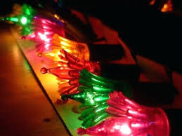 Past Vintage Tree Light String Multi Colored By Christmas Lights Uk Reflectors