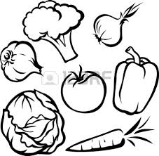 1350x1317 fruit and ve able clipart black and white fruits and ve ables