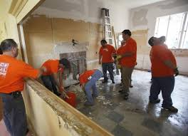 Army in orange helps spruce up Lompoc vets building