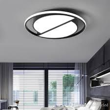 großhandel dimmbare led deckenleuchte mit fernbedienung moderne schwarz deckenleuchte runde wohnzimmer küche leuchten innenbeleuchtung decken