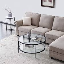 satztische fürs wohnzimmer kaffeetische satz wohnzimmertische wohnzimmertisch rund schwarz glass 85 85 45 l w h cm 1 pices