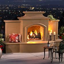 This Cozy Outdoor Fireplace With Vintage Garden Décor U003d Patio