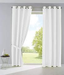 2er set vorhänge blickdicht gardinen matt lichtdurchlässig palermo mit ösen und raffhalter dekoschal hxb 145x140 cm weiß 10000265 2