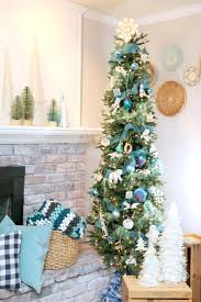 Skinny Christmas Trees Tree Decorating Ideas Use A Slim For Tight Spaces White Artificial At Walmart