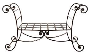salon banquette canapé et fauteuils fer forgé sofas forged iron