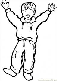 Little Boy Coloring Pages For Kids