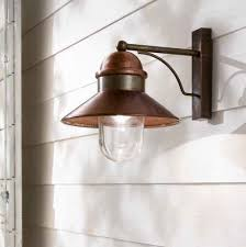 brass and copper exterior wall light traditional vintage